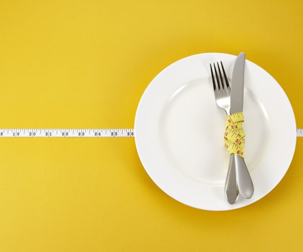 Plate and Measuring Tape